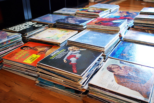 piles of records