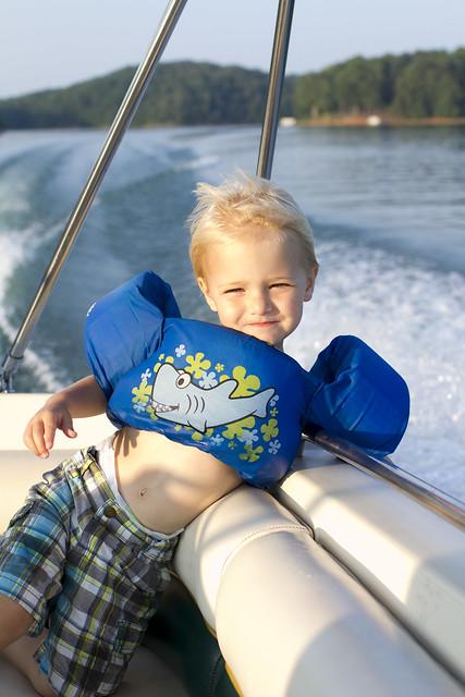 Blake on boat
