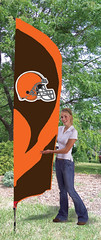 Cleveland Browns Tall Feather Flag