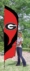 Georgia Bulldogs Tall Feather Flag