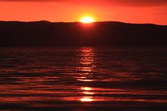 Sunset over Kintyre (shotlandka) Tags: sunset sea orange seascape hills isleofarran kintyre  catacol  canoneos500d  mygearandme  ringexcellence