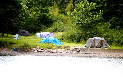 Langøyene er den eneste øya hvor du kan telte.