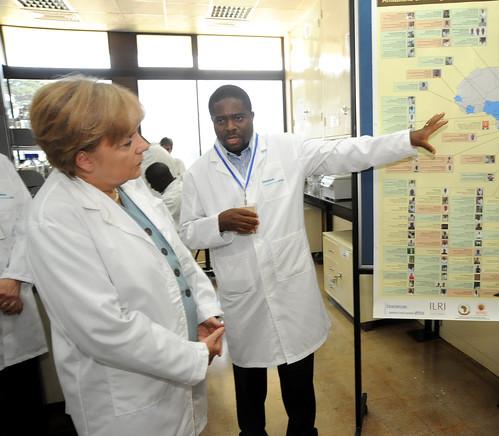 Merkel visits ILRI Nairobi: Lab tour
