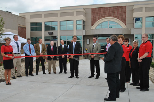 Grand opening at the Community Memorial Healthcare Hospital in Marysville, Kansas.  USDA Rural Development participated in the ribbon cutting ceremony with Marysville Chamber of Commerce, Community Memorial Healthcare Administration, Kansas Hospital Association, Kansas Department of Health and Environment, JE Dunn Construction and Hoefer Wysocki Architects.  Community Memorial Healthcare Photo.