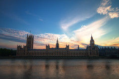 Sunset over Westminster (TheFella) Tags: uk greatbritain sunset england sky slr london water westminster thames clouds digital photoshop canon river eos photo high europe dynamic unitedkingdom dusk capital housesofparliament parliament bigben palace clocktower unescoworldheritagesite unesco photograph processing gb dslr range riverthames hdr highdynamicrange lambeth palaceofwestminster postprocessing 500d cityofwestminster photomatix