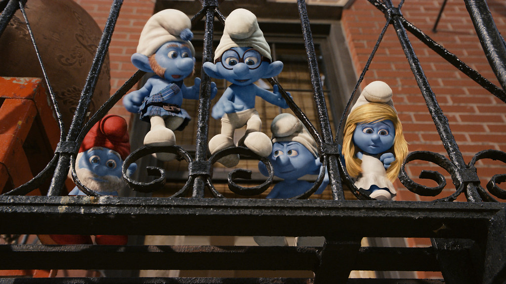 Papa, Gutsy, Brainy, Grouchy and Smurfette