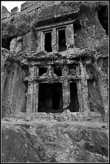 Rock Tombs of Tlos (Dune_UK) Tags: travel eye art monochrome look yellow rock liverpool turkey joseph skull blog different photographer image sale sold plate photograph frame wife latex seen tombs glynne pritchard scouser tlos fetyieh