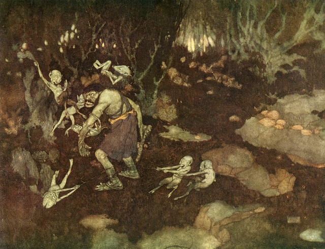 Edmund Dulac - Illustration from Shakespeare's ~ The Tempest (1908)