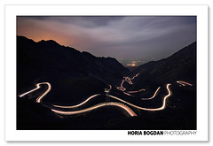 Transfagarasan - trails in the night (Horia Bogdan) Tags: mountains night lights highway trails romania carpathian transfagarasan gettyromania1