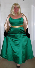 Wendy in Green ball gown (4) (Wendy Satin) Tags: ball gown satin wendy in