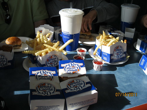 7/14/11: White Castle sliders, Ohio.