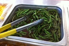 Green beans at Plymouth Rock Cafe