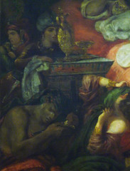 Delacroix, The Death of Sardanapalus with detail of servants