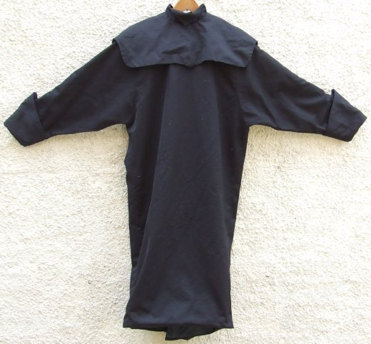 Front, black Willie Brown dress purchased by Sue Macasil at Brown's early 80s London boutique Modern Classics.