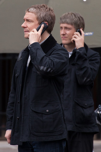 519/1000 - Filming of Sherlock - Martin Freeman & Double by Mark Carline