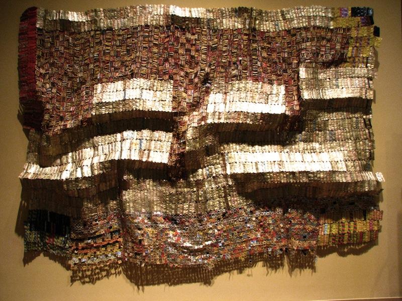 El Anatsui recycled wall art 1