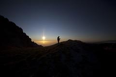 I'm not alone (AlexCavri) Tags: sunset italy sun rock dawn italia mare alba fisheye gita roccia paesaggio maiella gransasso 14mm parconazionale escursionismo cornogrande abbruzzo trackking direttissima massiccio