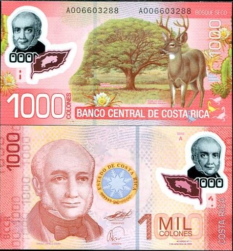 1000 Colones Kostarika 2011, polymer