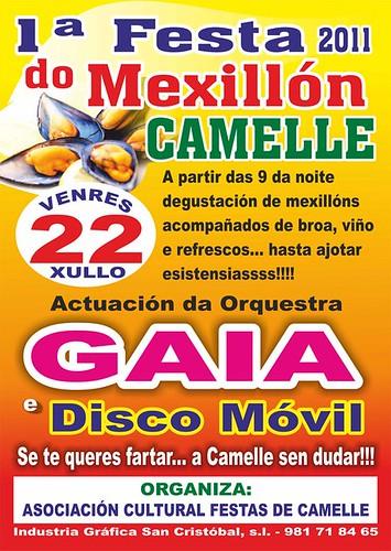 Camariñas 2011 - I Festa do Mexillón de Camelle - cartel