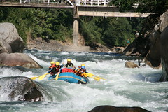 Rapids keep coming on the Kameng river Adventure rafting and Kayaking trip