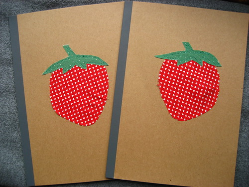 Strawberry notebooks - presents for the children's teachers