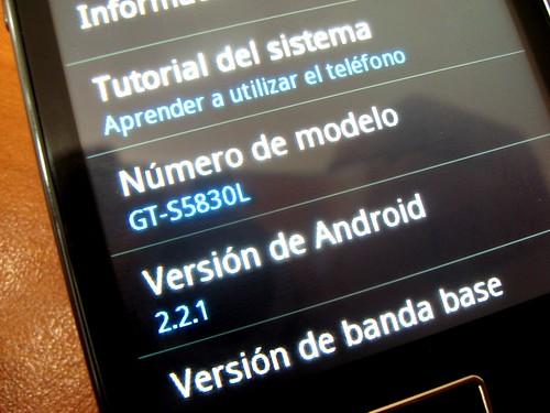 Modelo y versión de Android