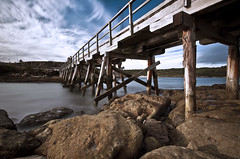 Bridge It (J.Shultz Photography) Tags: ocean new longexposure sea wales coast la wooden rocks long exposure slow bare south sydney australia nsw slowshutter shutter land newsouthwales aus scape cirrus laperouse perouse bareislandfort fortbridge
