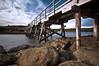 Bridge It (J.Shultz Photography) Tags: ocean new longexposure sea wales coast la wooden rocks long exposure slow bare south sydney australia nsw slowshutter shutter land newsouthwales aus scape cirrus laperouse perouse bareislandfort fortbridge