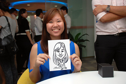 Caricature live sketching for Ricoh Roadshow - 21