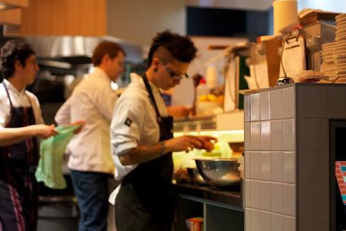 Open kitchen in action