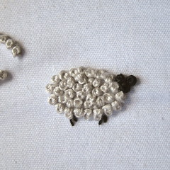 How to make wooly French Knot Sheep