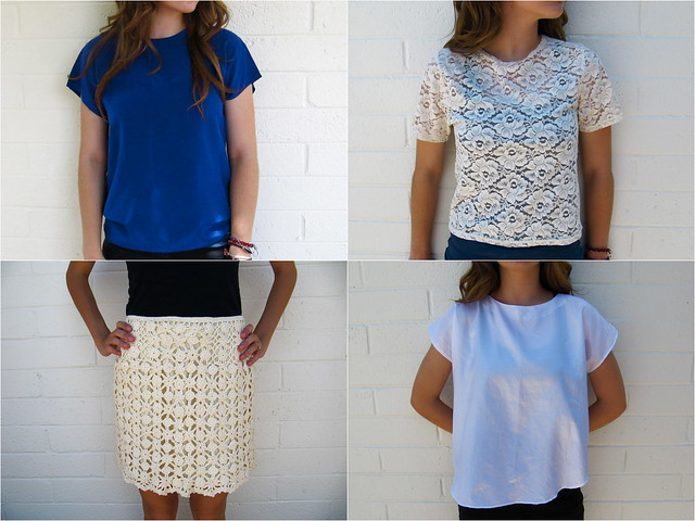Lace and slouchy tops