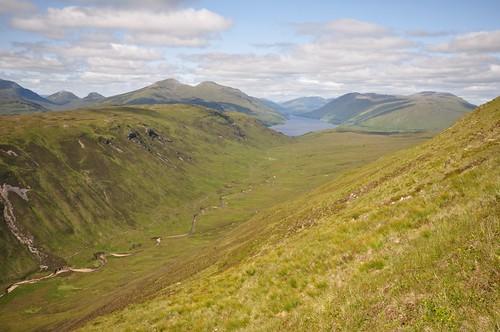 Loch Treig from Beinn a' Bhric