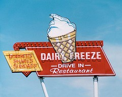 Dairy Freeze (Roadside Gallery) Tags: usa abandoned sign america vintage advertising rust downtown neon decay lodging sca rusty roadtrip mompop historic retro drivein faded burgers icecream 1950s signage americana neonsign roadside roadsideattraction backroads roadsideattractions ontheroad dt smalltown oldsign vintagesign shakes sundaes oldsigns vintagesigns vintageneon bluehighways sign dairyfreeze vanishingamerica vintagemotel ghost societyforcommercialarcheology americanasignage roadsidegallery