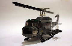 UH1 Huey Helicopter 03 (Babalas Shipyards) Tags: army lego aircraft military air assault huey helicopter airforce uh1 minifigurescale