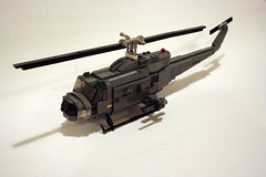 UH1 Huey Helicopter 01 (Babalas Shipyards) Tags: lego aircraft military huey helicopter airforce iroquois airassault