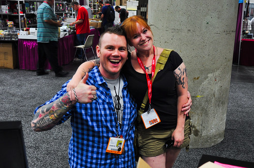 Becky Cloonan and I.