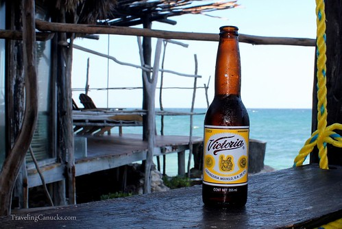 Victoria Beer at Azulik Villa, Tulum