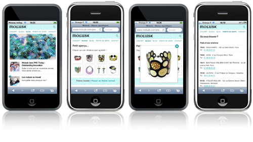 Site Molusk iPhone - Screenshots
