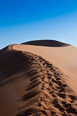 Big Daddy Trail (smokejumping) Tags: africa red orange nationalpark sand nikon desert hiking dunes dune southern trail pan duna sesriem namibia arancione deserto sabbia namibian sossusvlei namib bigdaddy rossa 2011 d80 namibnaukluft sergiocanobbio