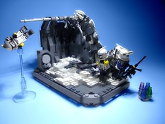Mission 9.2 (jestin pern) Tags: fiction trooper star lego space contest 9 competition science company charlie corps mission fi wars squad clone yankee sci 91 legion dua npu epidemic wurm objective 457th nelvaan slushey 707th nelvaanian