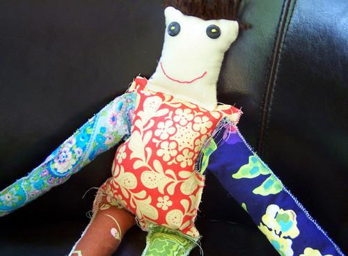 Fabric Scraps Doll