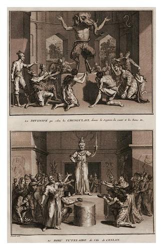 018-Divinidad y dios titular de la isla de Ceilan-Ceremonias et coutumes religieuses de tous les peuples du monde 1741- Bernard Picart-© Universitätsbibliothek Heidelberg