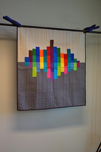 city reflection quilt