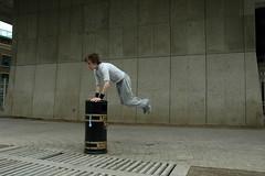 Litter Leap (Larking About) Tags: dublin dance jump streetphotography bin litter larkingabout spnp streetphotographynowproject instruction44