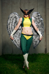 Hawkgirl (mrksaari) Tags: summer portrait beauty espoo finland blog costume jump dish cosplay event hero hawkgirl d300 profoto 2011 ropecon dipoli strobist 2470mmf28g acuteb