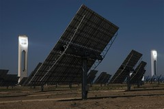 GP02G53 (IgorPodgorny) Tags: outdoors evening spain towers renewableenergy solarenergy heliostat climatecampaigntitle keywordcheckedimagegpi solarpowerstations