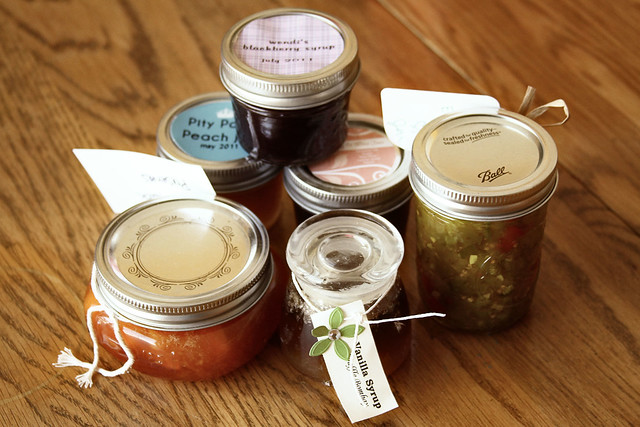 Bounty of Food in Jars
