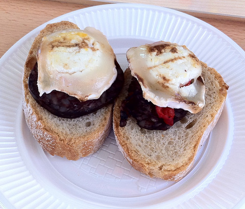 Blood Sausage and Goat Cheese