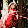 Threatening The Light (Iván Martin) Tags: world red portrait tree texture wool cup girl forest square freedom colombia dress expression yarn damn catch conceptual inspirational capture captive trap embalse darkart sub20 neusa redwool conceptualphotography brookeshaden alexstoddard neusaforest